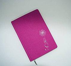 Papiernictvo - Plátený zápisník s dievčatkom - 10811843_