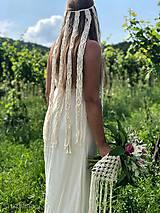 Ozdoby do vlasov - Svadobný makramé závoj Gwenn - 10813321_