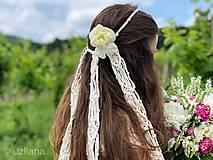 Ozdoby do vlasov - Svadobný makramé závoj Gwenn - 10813322_