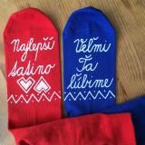 Obuv - Maľované ponožky pre tatinka vo folk štýle - 10811923_