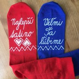 Obuv - Maľované ponožky pre tatinka vo folk štýle - 10811924_