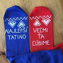 Obuv - Maľované ponožky pre tatinka vo folk štýle - 10811914_