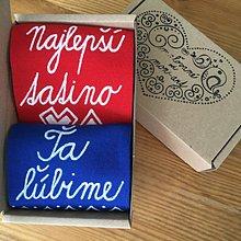 Obuv - Maľované ponožky pre tatinka vo folk štýle - 10811925_
