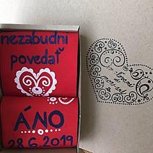Obuv - Maľované ponožky pre ženícha/nevestu - 10813308_