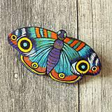 Odznaky/Brošne - Motýl - kožená brož - 10812909_
