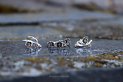 Prstene - strieborný prsteň - rozkvitnutá slivka - 10812221_