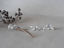 Náušnice - napichovacie náušnice - čerešňové kvety (sakura) - 10812269_