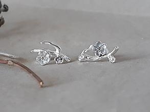 Prstene - strieborný prsteň - rozkvitnutá slivka - 10812237_