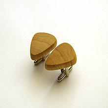 Šperky - Drevené manžetové gombíky - hrabové - 10810935_