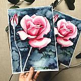 Obrazy - Ruža (modrá), (ART PRINT) akvarel - 10812314_