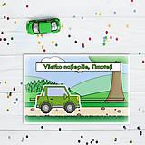 Papiernictvo - Interaktívna pohľadnica auto (s okrajmi) - v prírode - hranaté trojdverové - 10812050_
