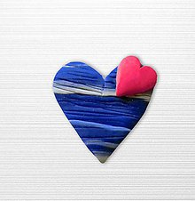 Magnetky - Srdce vo vode - 10813270_