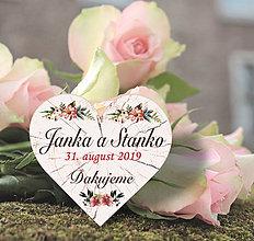 Darčeky pre svadobčanov - Svadobná magnetka - 10814715_