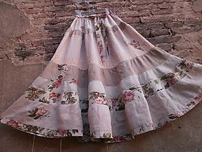 Sukne - Přírodní,kanýrová,dlouhá sukně - 10814460_