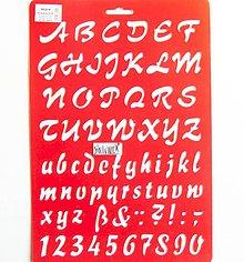 Pomôcky/Nástroje - Šablóna Meyco - 20x30 cm - abeceda, čísla, kurzíva - 10814740_