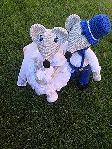 Darčeky pre svadobčanov - Svadobné myšky - 10814023_