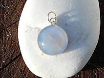 Náhrdelníky - blue agata-chalcedón - 10815452_