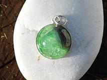 Náhrdelníky - green garnet-zelený granát-striebro - 10815461_