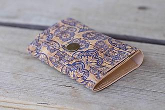 Peňaženky - Korková peňaženka S ornament - 10814063_