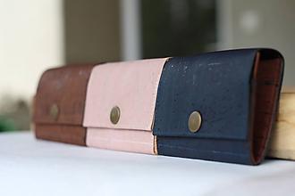 Peňaženky - Korková peňaženka S tmavomodrá - 10814240_