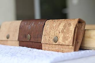 Peňaženky - Korková peňaženka S zlatá - 10814576_