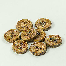 Materiál ručne robený - Gombíky keramické okrúhle - 2 cm - 10814599_