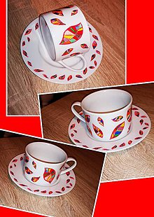 Nádoby - Šálka na kávu Farebné lístie - 10815515_