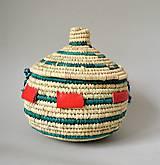 Košíky - MANDARA Prútená šperkovnica z palmových listov - 10814048_