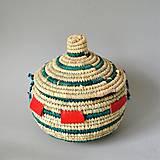 Košíky - MANDARA Prútená šperkovnica z palmových listov - 10814049_