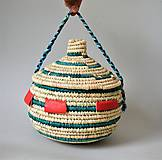 Košíky - MANDARA Prútená šperkovnica z palmových listov - 10814050_