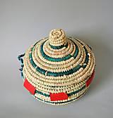 Košíky - MANDARA Prútená šperkovnica z palmových listov - 10814051_