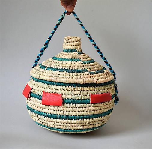MANDARA Prútená šperkovnica z palmových listov