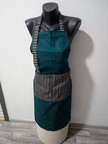 Úžitkový textil - Kuchárska zásterka cez krk - 10815110_