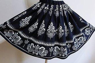 Sukne - Suknička s ľudovým motívom -modrotlač... - 10813773_