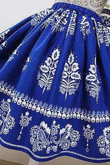 Sukne - Suknička s ľudovým motívom -modrotlač... (Pestrofarebná) - 10813854_