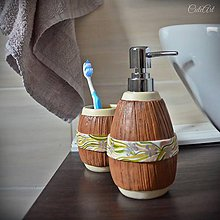 Nádoby - Sada do kúpeľne - podľa fotografie obkladu - 10814111_