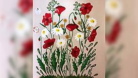 Iné tašky - ♥ Plátená, ručne maľovaná taška ♥ - 10815475_