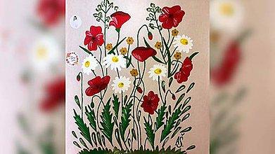 Iné tašky - ♥ Plátená, ručne maľovaná taška ♥  (S9) - 10815475_