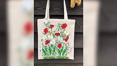 Iné tašky - ♥ Plátená, ručne maľovaná taška ♥  (S10) - 10815534_