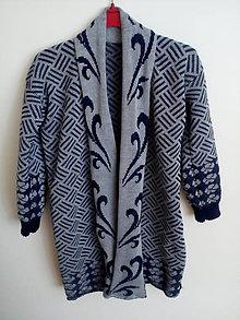 Kabáty - Pletený kabátik - 10814344_