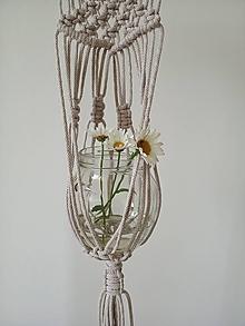 Dekorácie - Závesný držiak na kvetináč, vázu, svietnik - 10814193_