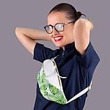 Kabelky - Kožená ľadvinka / belt bag - tropical - 10813385_