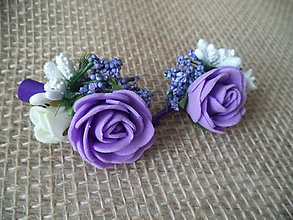 Ozdoby do vlasov - fialové krásky - 10815117_