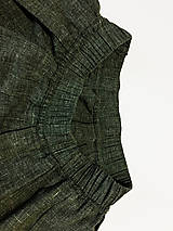 Sukne - Olivová sukňa - 10813444_