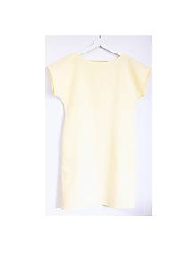 Šaty - ľanové žlté šaty - 10814592_