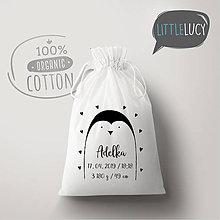 Iné tašky - Vrecko LiLu - tučniak - 10814882_