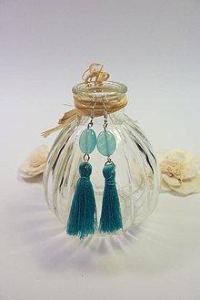 Náušnice - Náušnice ministrapčeky (Modrá) - 10814517_