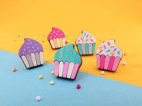 Náušnice - Náušničky - cupcake - 10814552_