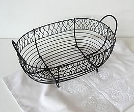 Košíky - Košík oválny s bordúrou - 10814390_