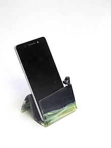 Pomôcky - stojan na mobil  zeleno čierny - 10814224_